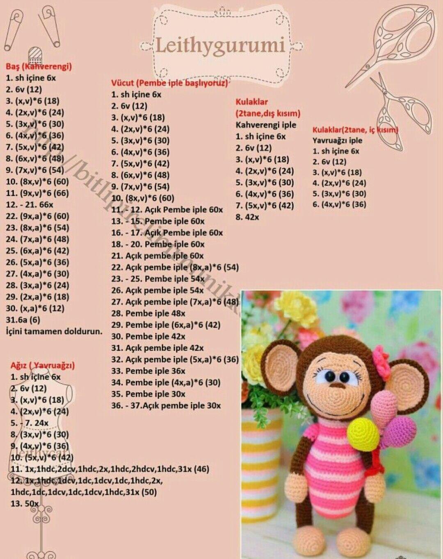 Amigurumi örgü oyuncak balon lu maymuncuk yapımı anlatımlı ...