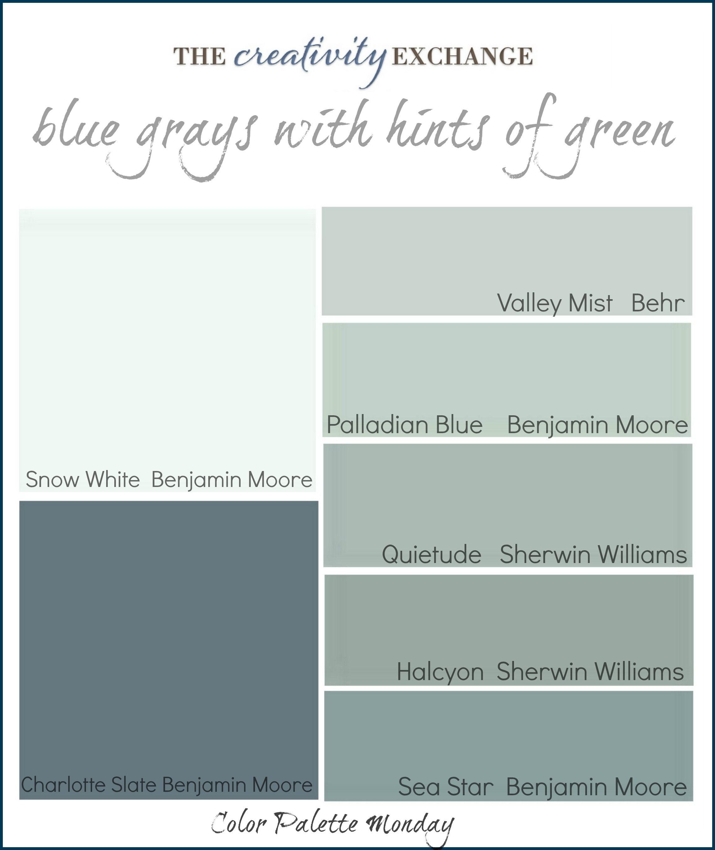 Color Palette Monday 1 Blue Gray Paint Paint Colors For