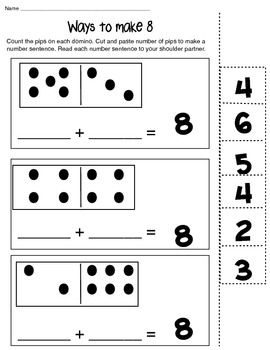Ways to Make 6,8 and 10 math composing number worksheet   Simple ...