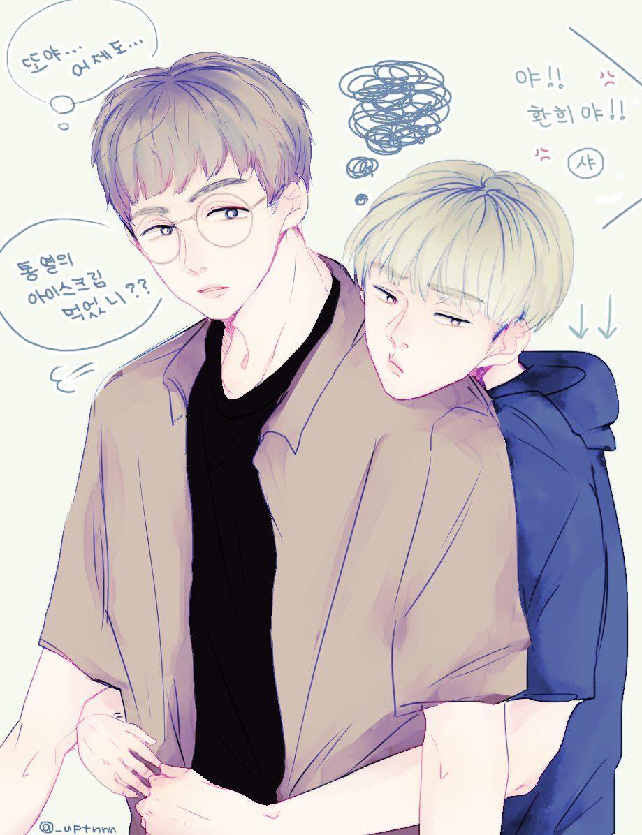 [FANART] UP10TION Gyujin &  Hwanhee cr:@_uptnnn