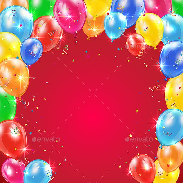 Birthday Balloons On Red Background Happy Birthday Black Happy Birthday Theme Birthday Balloons