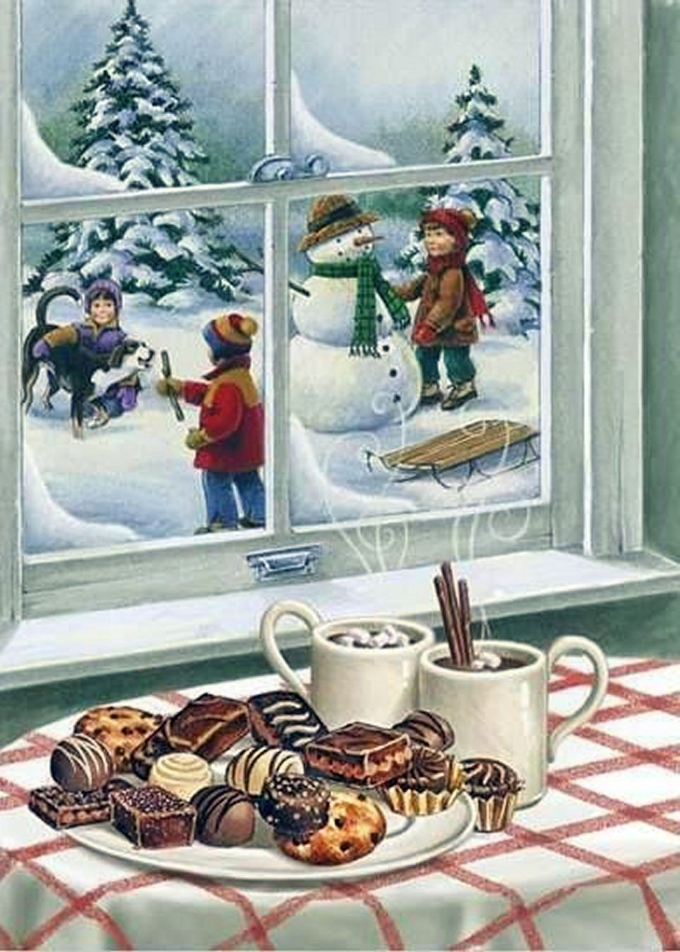 An old fashioned christmas vintage cards and scenes pinterest an old fashioned christmas kristyandbryce Image collections