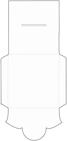Scallop Gatefold Card Template On Craftsuprint Designed By Karen