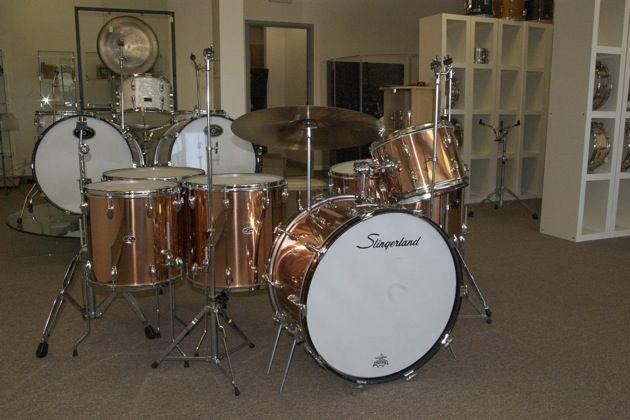 slingerland drums dbl set steve says this 14 piece copper kit is for me try and make him an. Black Bedroom Furniture Sets. Home Design Ideas