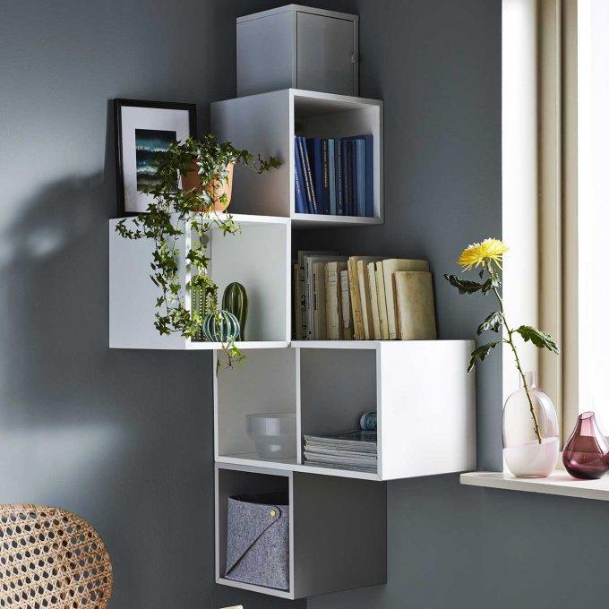 20 Meubles Ultra Malins Pour Gagner De La Place Rangement D Angle Salon Ikea Mobilier De Salon
