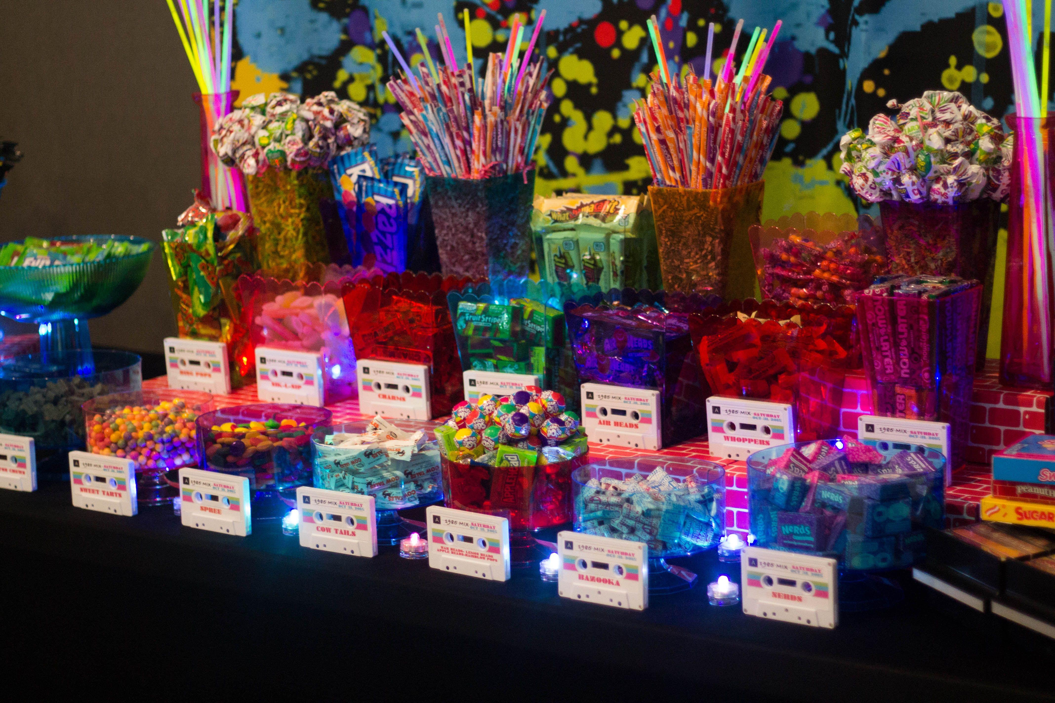 80s Themed Candy Buffet Photos