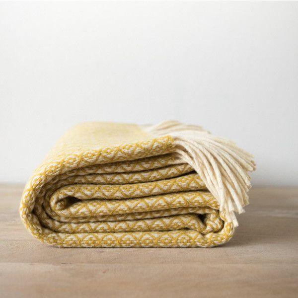 Sofa Slipcovers Yellow and Cream Wool Throw Sofa Spread With Fringe Warm