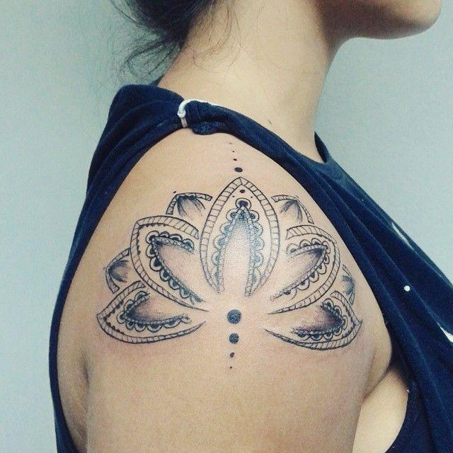 Mandala Lotus Flower On Instagram Lotus Tattoo Shoulder Mandala Tattoo Shoulder Lotus Mandala Tattoo
