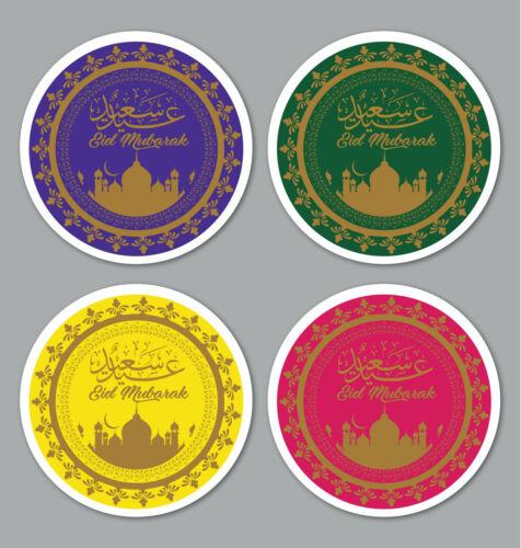 Eid Mubarak Ramadan Stickers Labels Gloss Matt 4 Colours Lot Of 24 35 Ebay Eid Stickers Sticker Labels Eid Mubarak