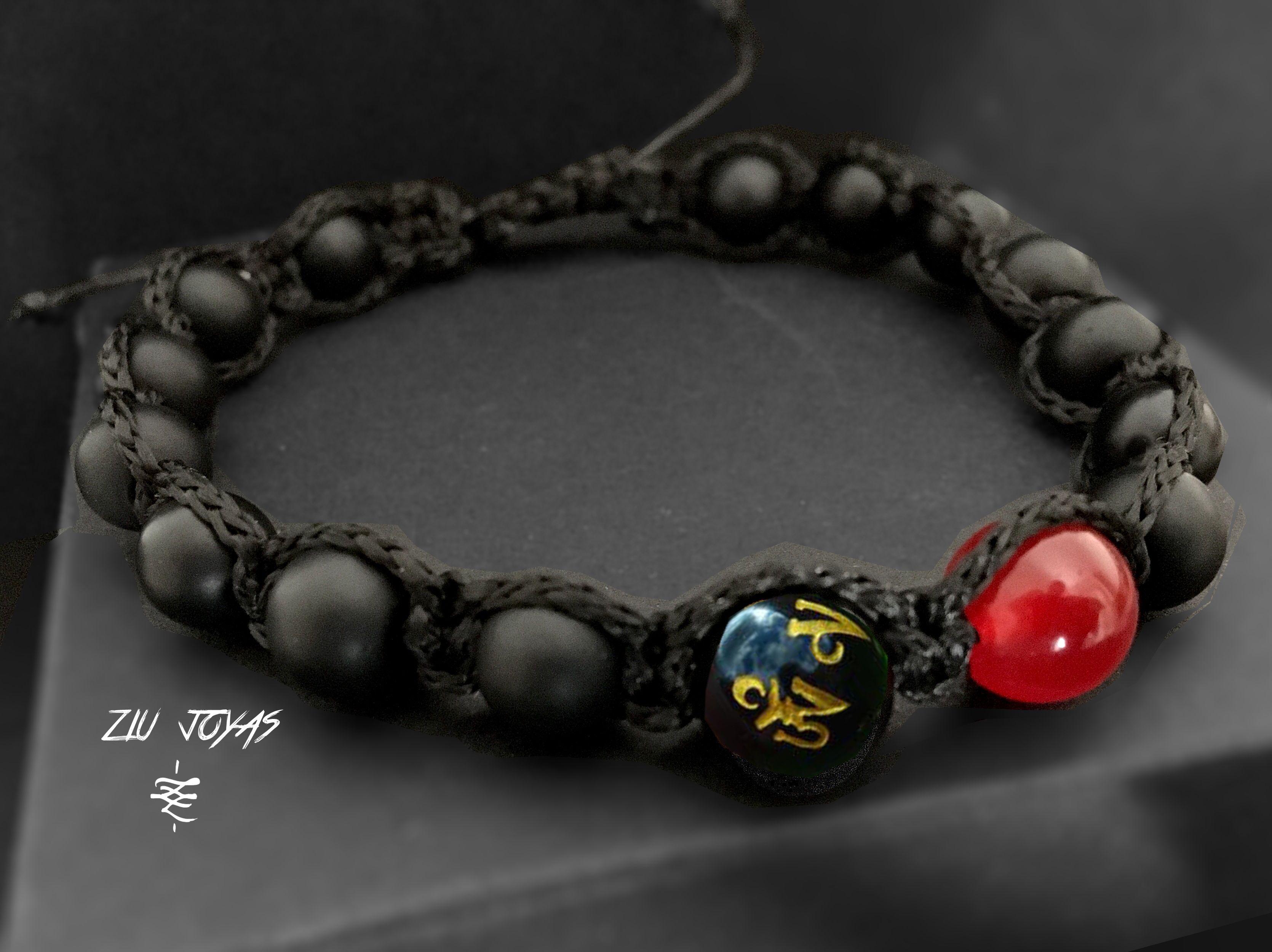 Natural Stones Handmade Beaded Bracelets Black Onyx Jasper