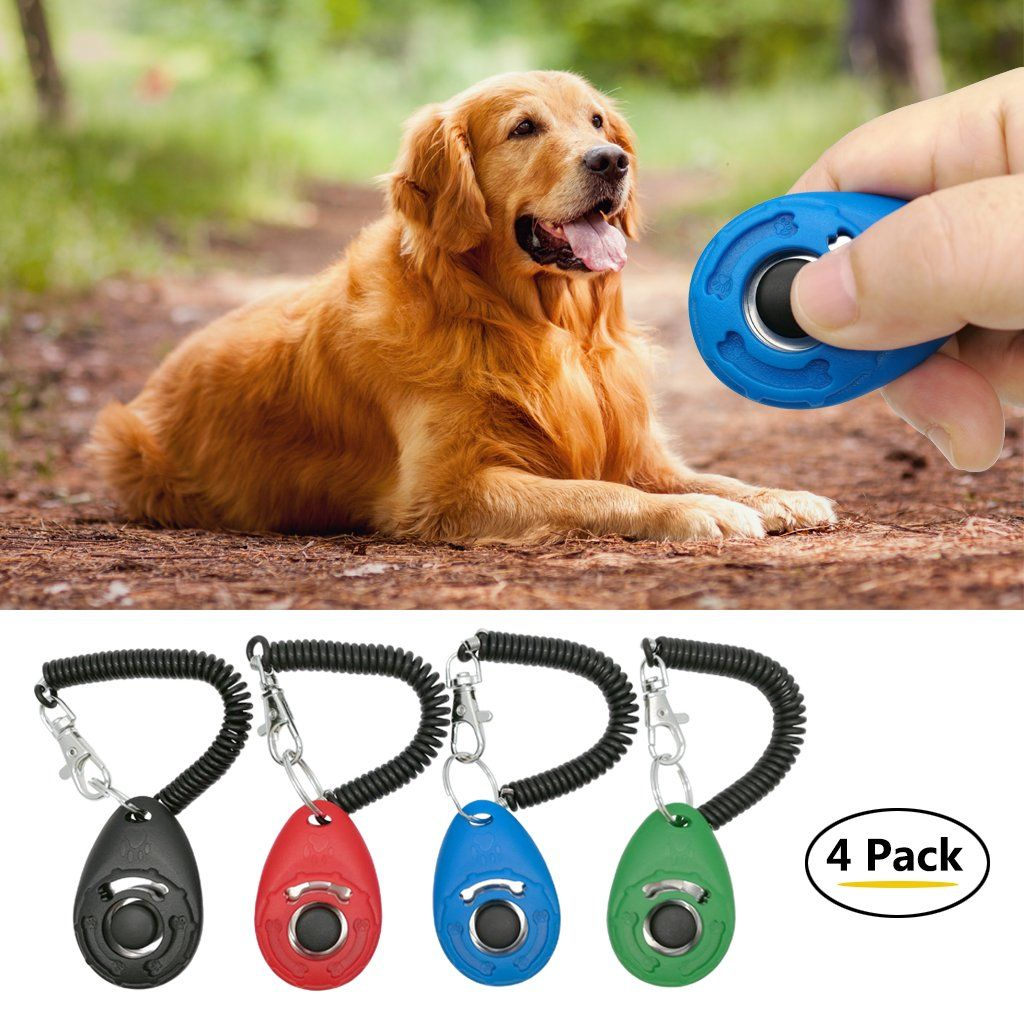 Dog Training Clicker With Wrist Strap Bands For Dog Cat Pet Want