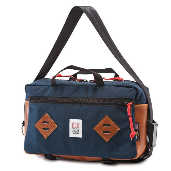 Topo Designs Mini Mountain Bag Navy Leather