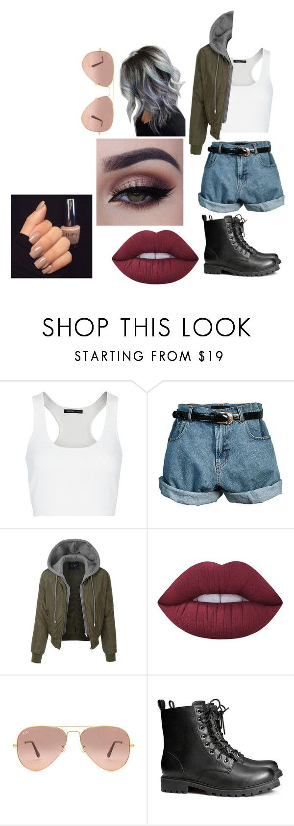 """""""Untitled #1978"""" by hey-mate ❤ liked on Polyvore featuring MANGO, Retrò, LE3NO, Lime Crime, Ray-Ban and H&M"""