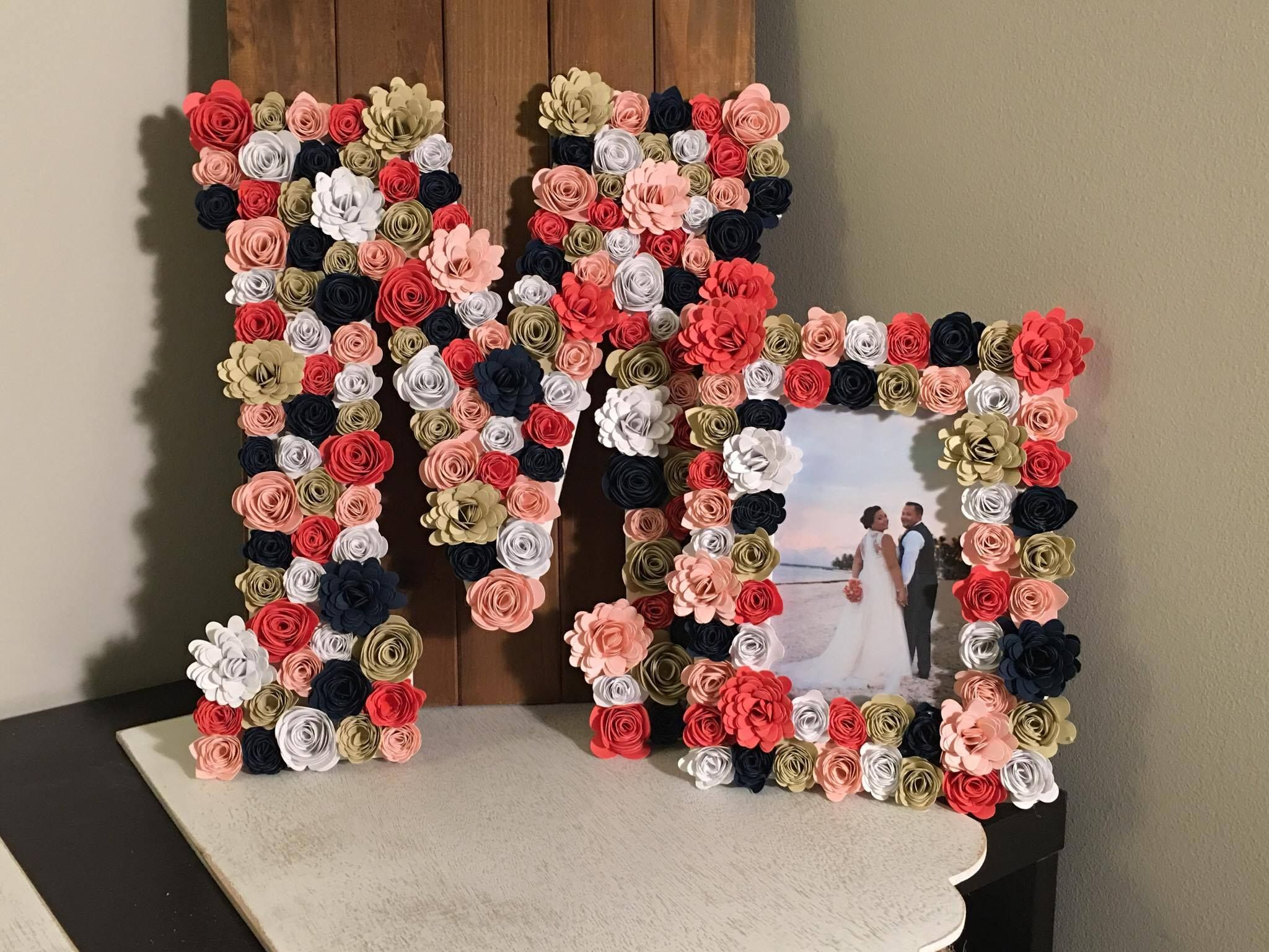 Paper Flower Letters, Nursery, Wedding, Floral Wall Decor