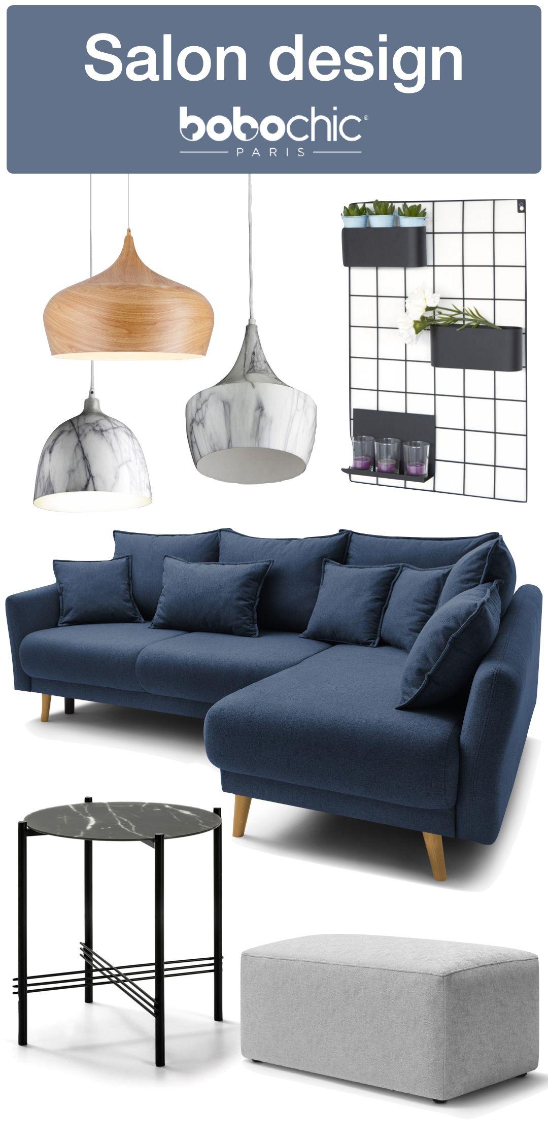 Idée déco salon design par Bobochic canapé angle convertible lit