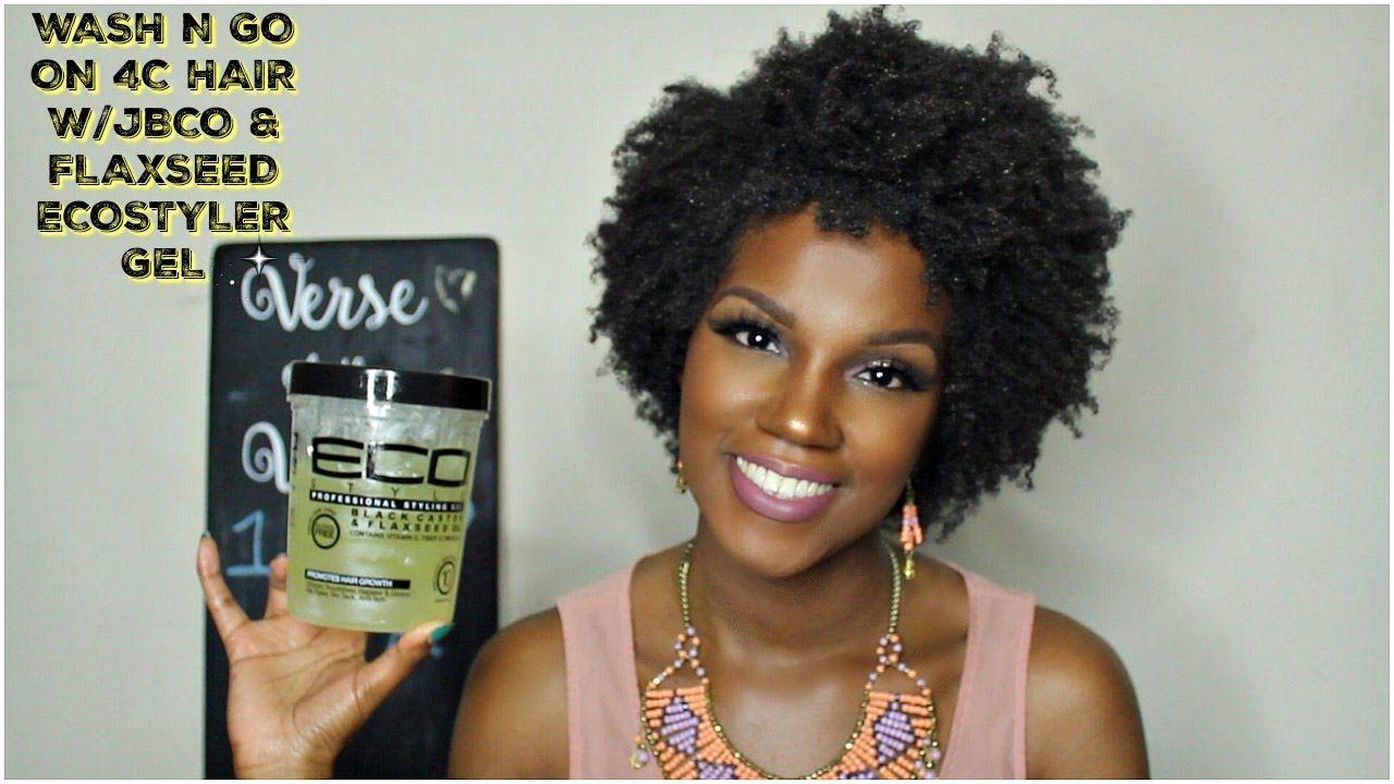 Wash N Go On 4c Hair Jbco Flaxseed Eco Styler Gel Best Fiends Eco Styler Gel 4c Hairstyles 4c Hair Care