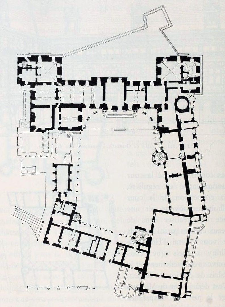 Ground Floor Plan Of The Chateau De Blois Castle Floor Plan Architectural Floor Plans Floor Plans