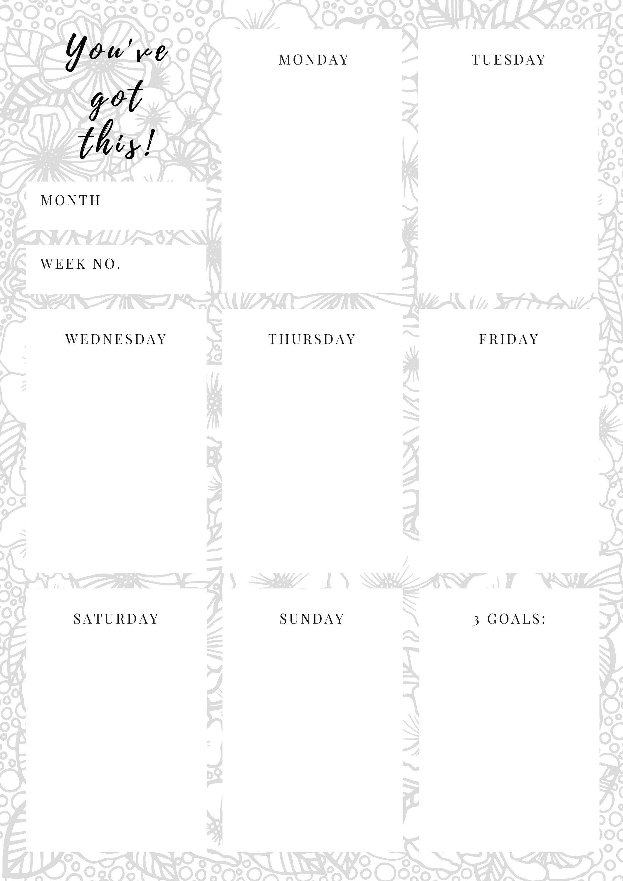 You've got this Weekly planner template printable A4 A5