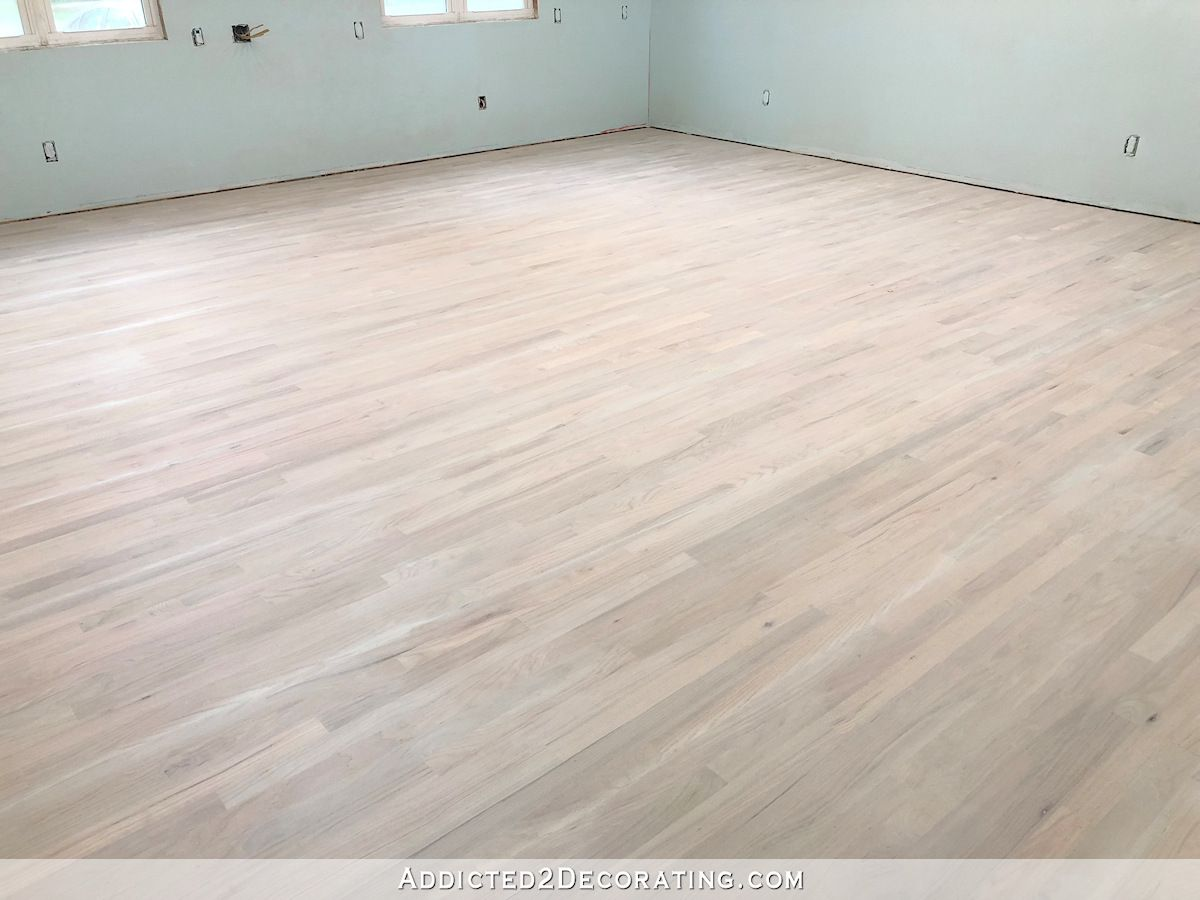Diy Whitewashed Red Oak Studio Floor Part 1 Addicted 2 Decorating In 2020 Red Oak Stain Red Oak Hardwood Red Oak Hardwood Floors