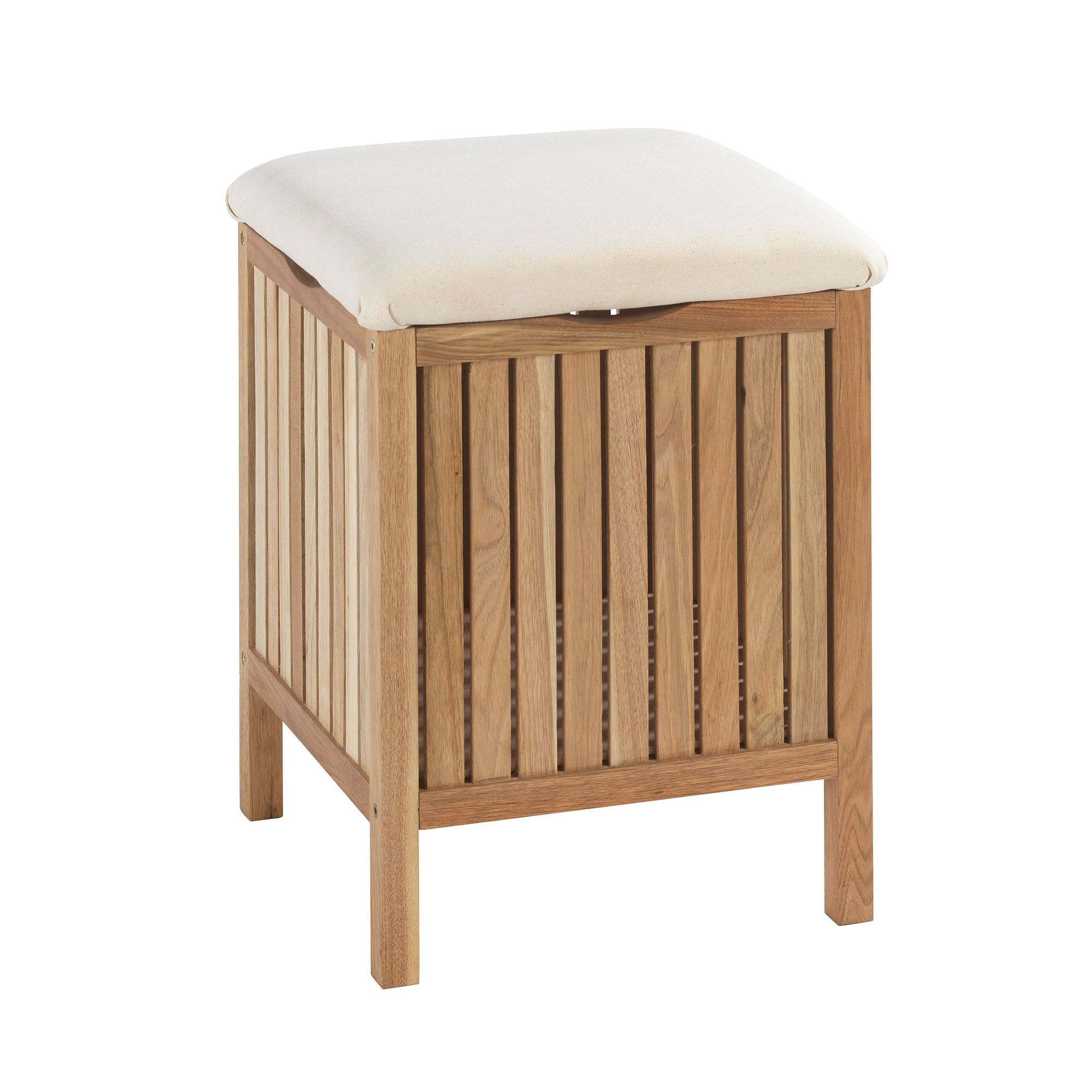 tabouret coffre bois woody bain les tag res et armoirettes de salle de bains les meubles. Black Bedroom Furniture Sets. Home Design Ideas