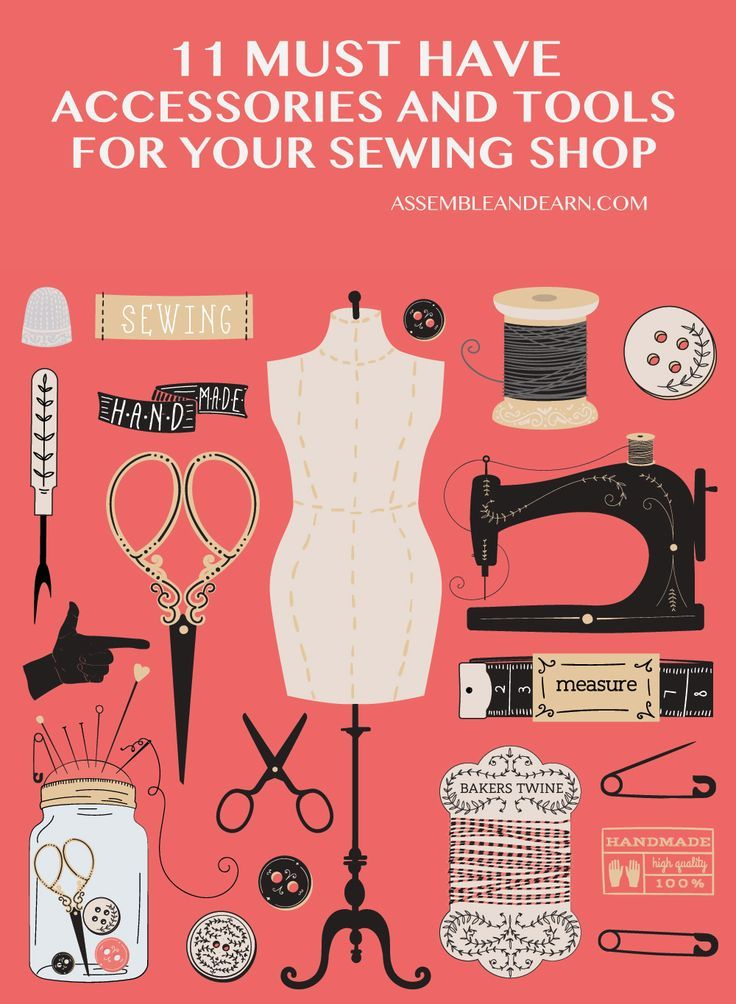 11 Must Have Tools And Accessories In A Sewing Shop Sewing Essentials Sewing Studio Woodworking Tools Workshop