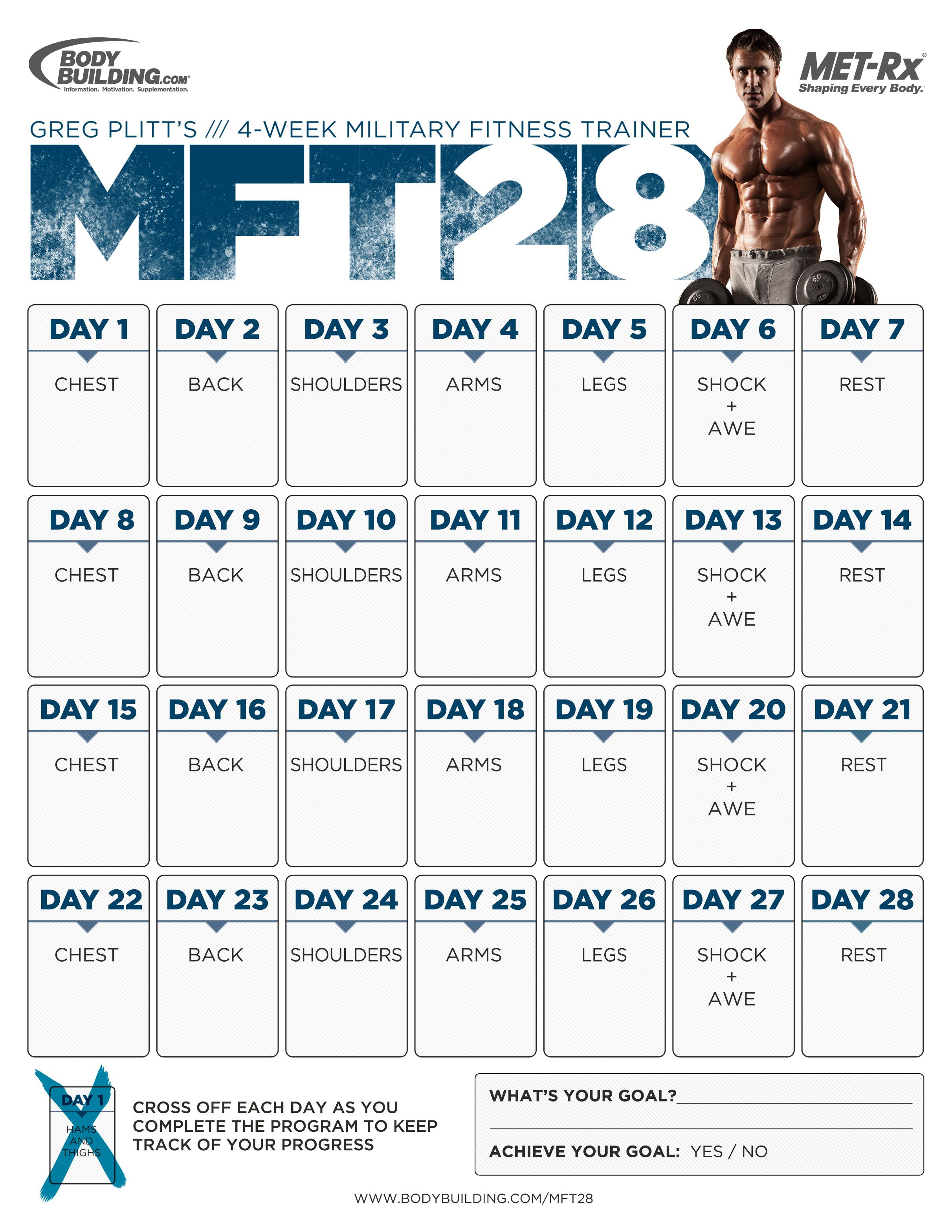 MFT28: Greg Plitt's 4-Week Military Fitness Trainer By MET-Rx ...