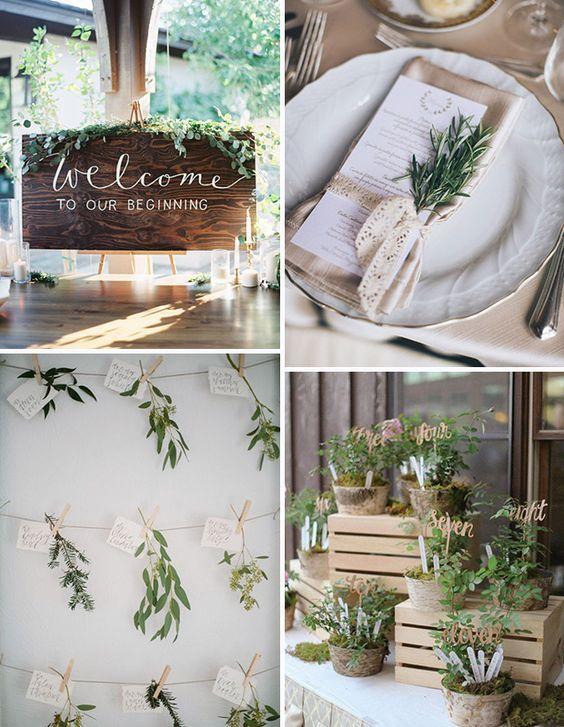 The new rustic herb greenery wedding decoration ideas onefabday com ireland