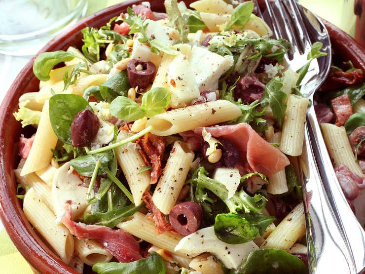 Pastasallad Med Lufttorkad Skinka Opskrift Salat Italiensk