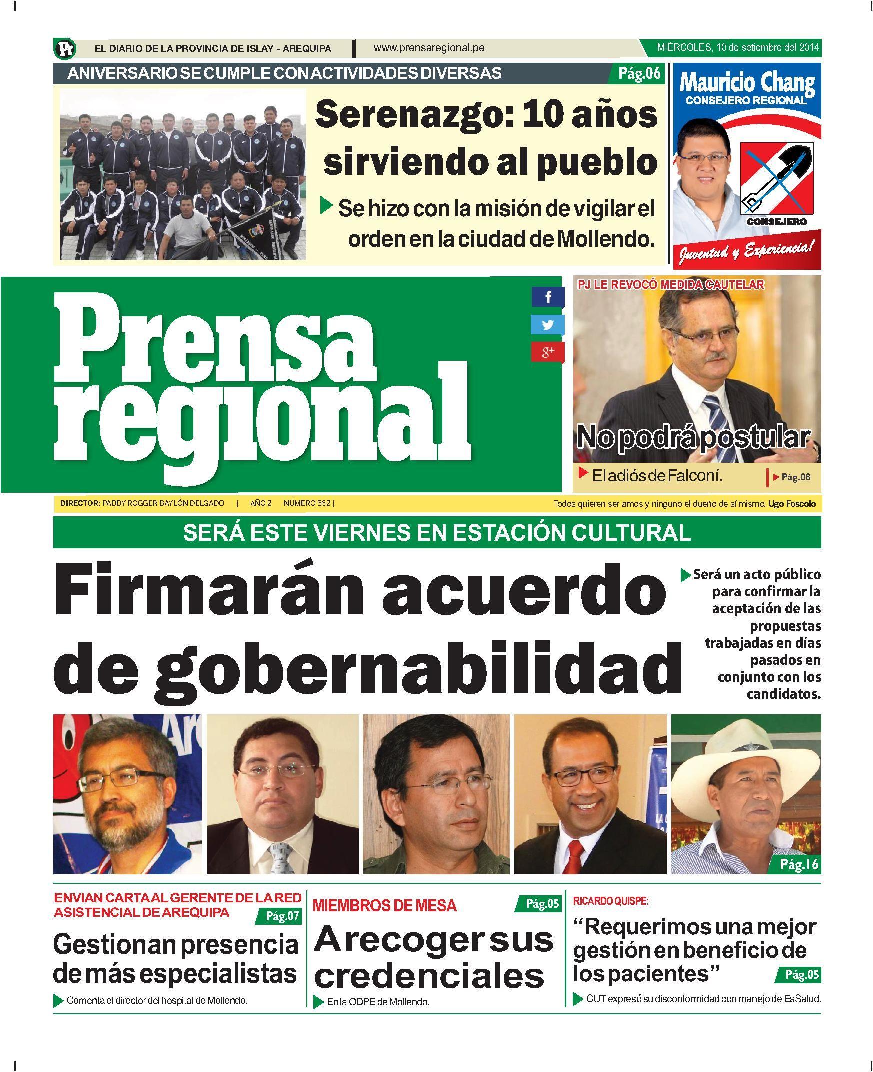 Prensa Regional miercoles 10 set