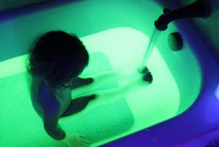 Glow in the dark Bath!  How fun.