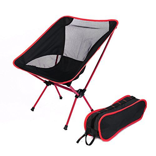 fishing chair bed reviews recliner 2018 alloy moon portable folding for outdoor camping picnic bbq red read more of the product by visiting link on image