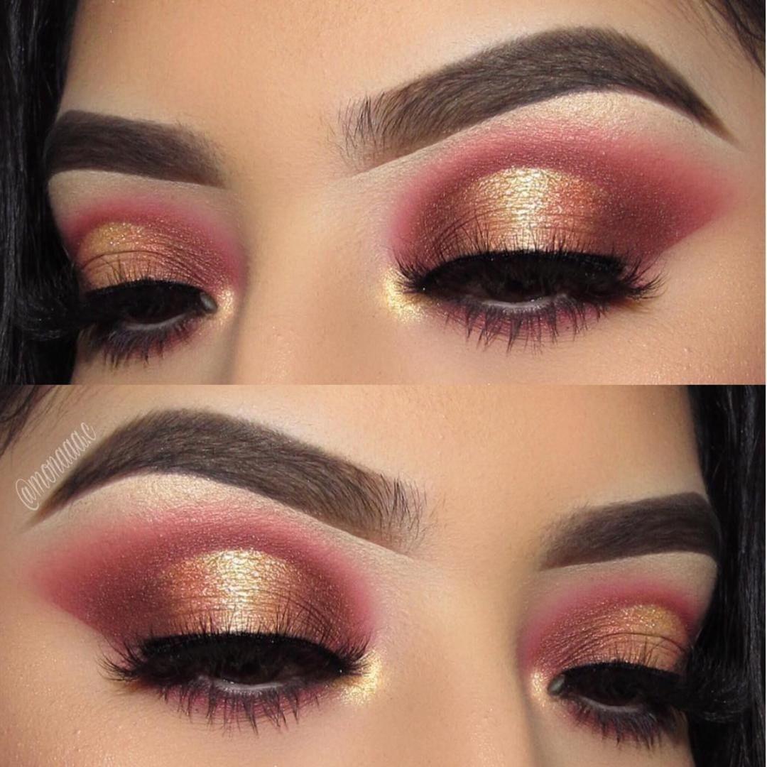 Gold and Burgundy EyeMakeupHowToDo Burgundy makeup