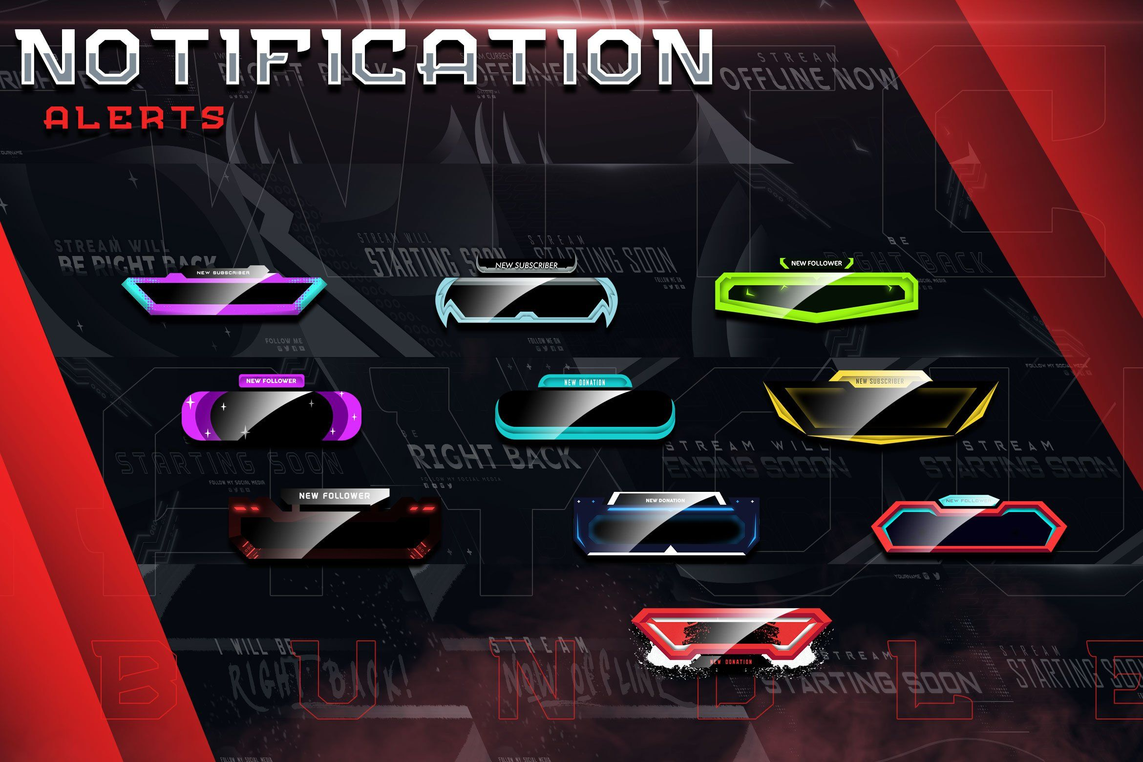 Twitch Layout Creator Bundle Layout template, Social