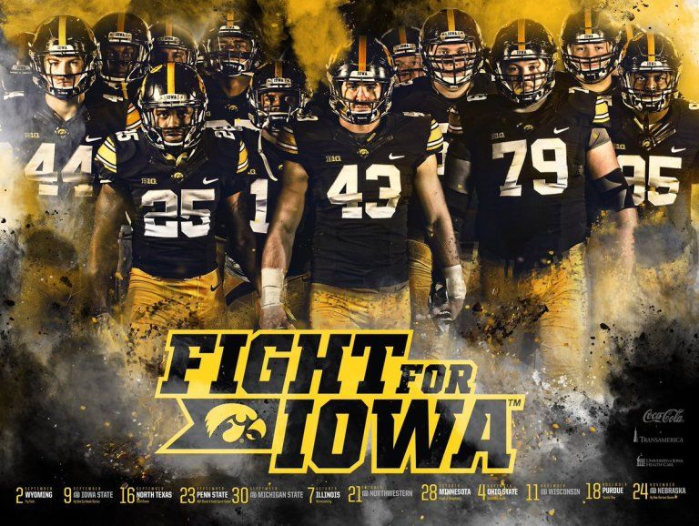 Posterswag Com Top 50 2017 Fbs Football Schedule Posters Iowa Football Football Iowa