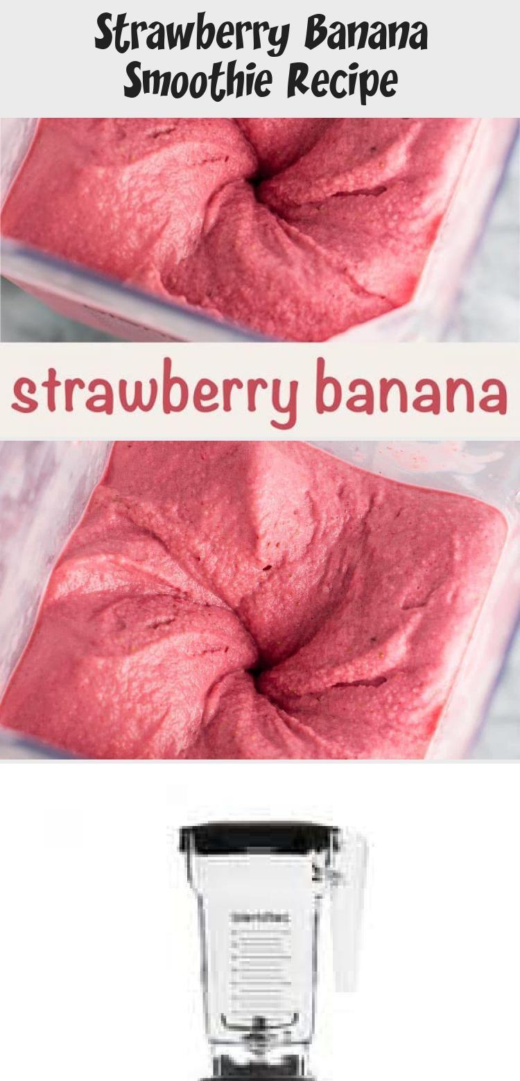 Strawberry Banana Smoothie Recipe #strawberrybananasmoothie
