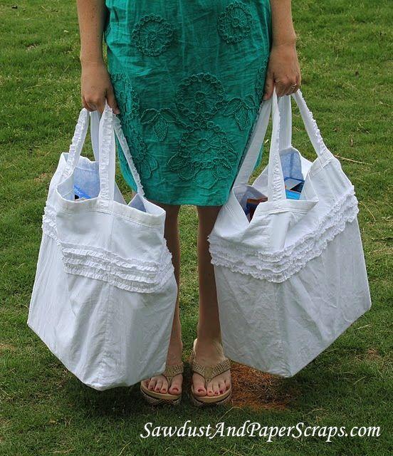 Reversible, Reusable, Ruffled Grocery Bags
