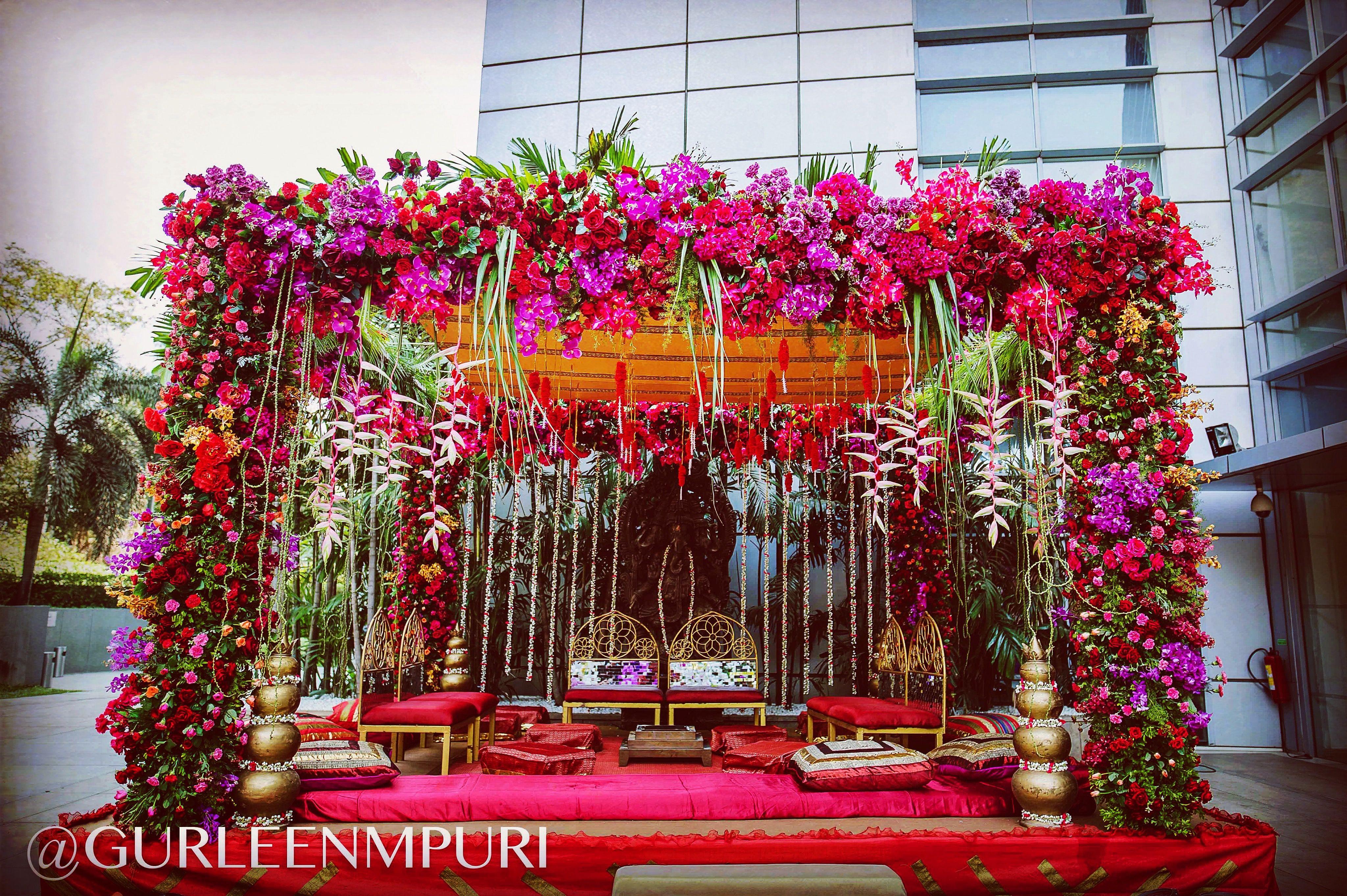 An Absolutely Beautiful Mandap Inspiration Wedding Decor By