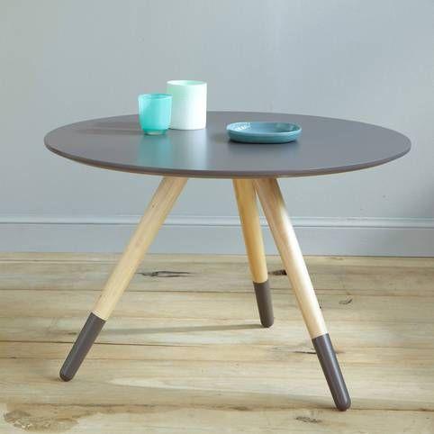 Table basse NEW PIN'S, diamètre 75 cm, pieds peints.- Vue 1