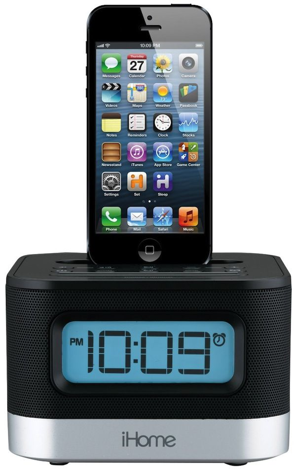 IHome Dual Charging Stereo FM Clock Radio With Lightning Dock And USB  Charge/Play For IPhone/iPod     Product Description: Whether You Have The  Latest ...