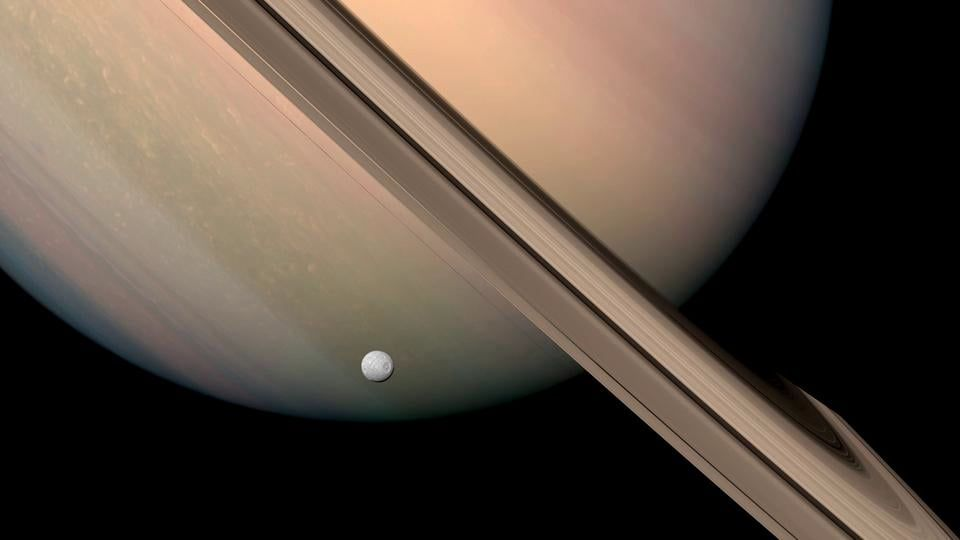 In Saturn S Rings Flyby S Created With Photographs Taken From