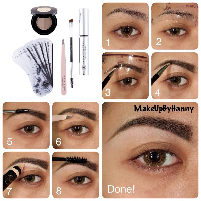 Eyebrow Tutorial Using Anastasia Beverly Hills Brow Products Use