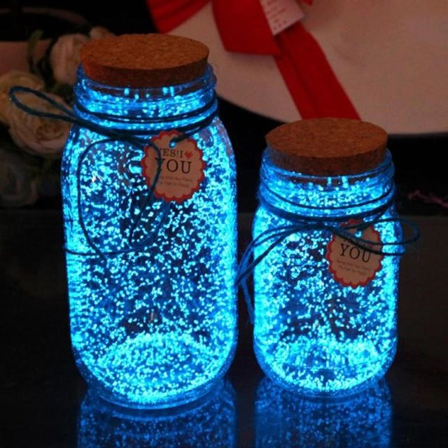 DIY Starry Wish Bottle 10g Luminous Glow Paint Pigment Glow in the Dark Bright Paint Star Wishing Bottle Fluorescent Particles
