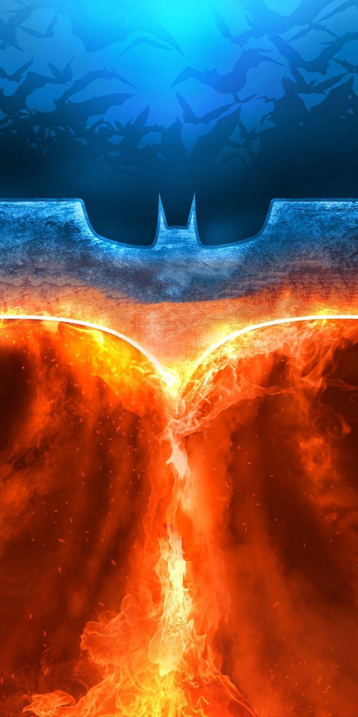 jawdropping wallpaper Batman, fire, rise of superhero