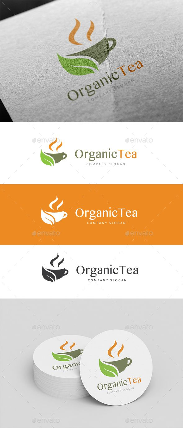 Organic Tea - Logo Design Template Vector #logotype Download it here ...