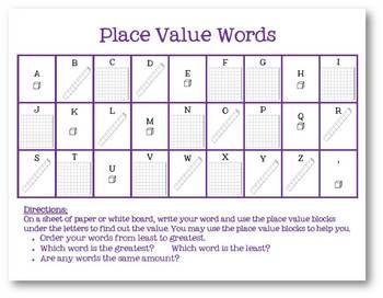 place value spelling word work spelling thoughts place values math classroom 3rd grade words. Black Bedroom Furniture Sets. Home Design Ideas