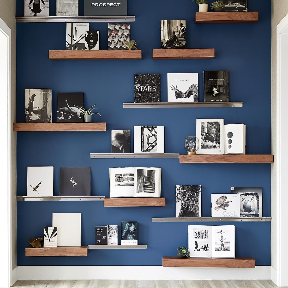 three by three stainless steel display wall shelves the on wall shelf id=52670
