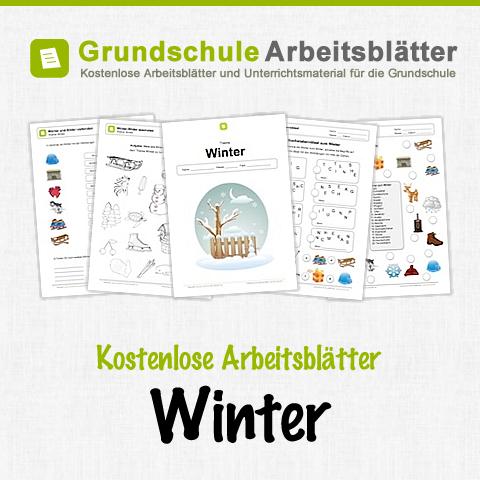 kostenlose arbeitsbl tter und unterrichtsmaterial zum thema winter in der grundschule. Black Bedroom Furniture Sets. Home Design Ideas