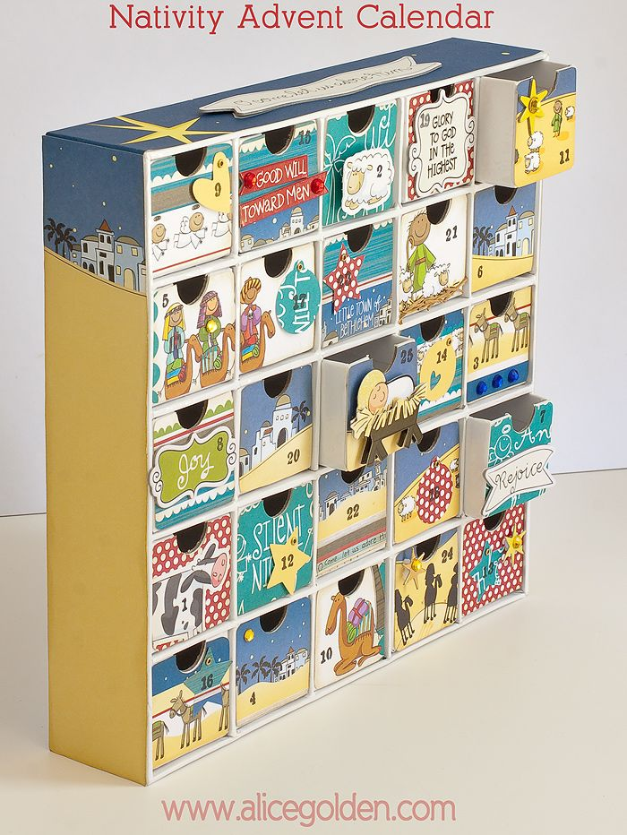 Calendar Typography Kit : Nativity advent calendar kit from me my big ideas d