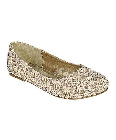 Another great find on #zulily! Beige Scoly Flat by SODA #zulilyfinds