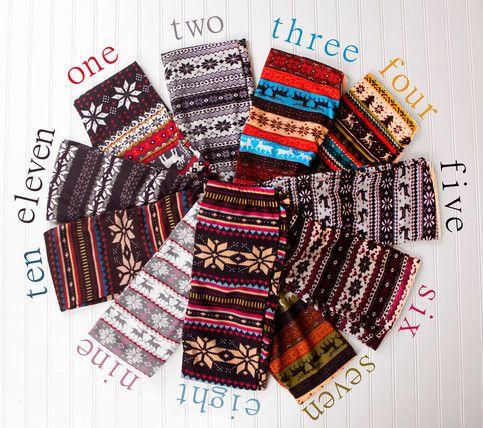 Winter Aztec Print Leggings 11 Styles #aztec